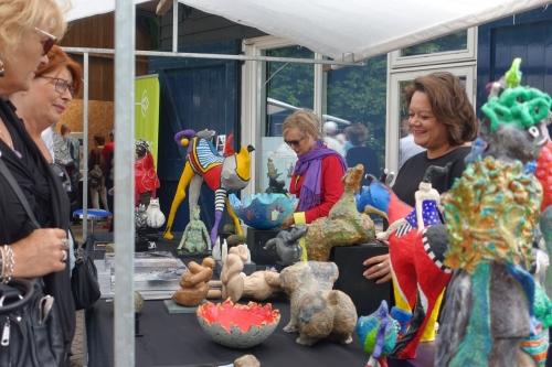 Impressie foto kunstmarkt Wezup Drenthe 2019 Atelier Zus & Zo uit Emmen