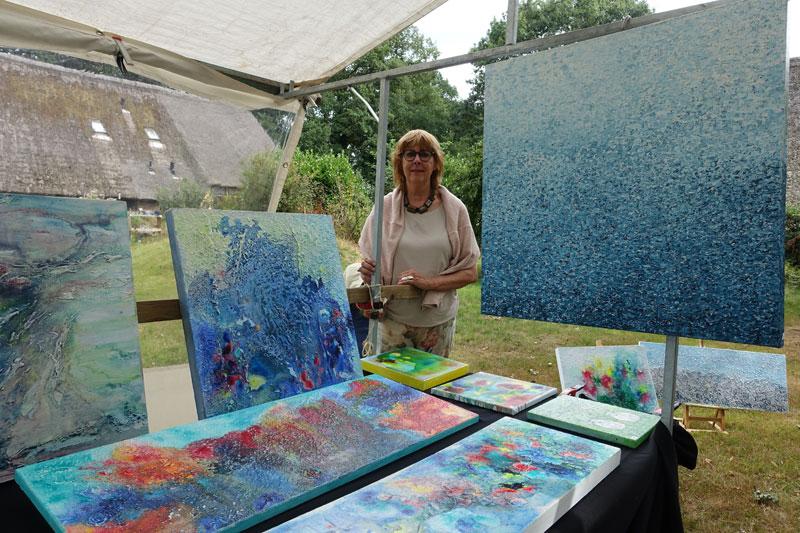 Schilderijen van Aly van der Woude van Gallerie Zeven deelnemer Kunstmarkt Wezup 2019