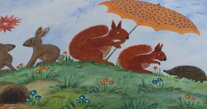 Schilderijen voor kinderkamers van Geja Leever deelnemer Kunstmarkt Wezup 2019