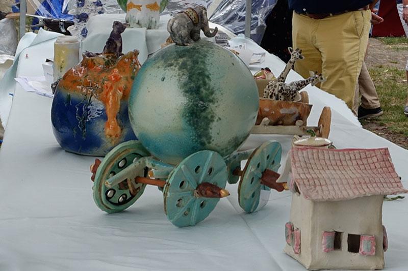 Keramiek van Patty Ament deelnemer Kunstmarkt Wezup 2019