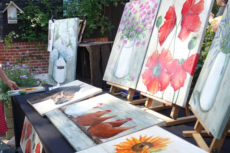 Schilderijen op hout van Marsha Roo-Kist van MRK-Paint
