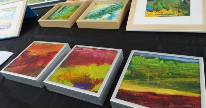 Schilderijen van Marscha van Noessel deelnemer Kunstmarkt Wezup 2019